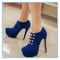 ENMAYER mature and sexy women fashion boots solid Metal fasteners thin heels shoes forgirls ankle boots grade scrub winter boots