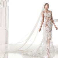 2015 New Mermaid Wedding Dress Bride Sexy Hollow Out Lace Romantic Wedding Dress Slim Train Handmade Wedding Dresses