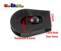"20pcs 1/8""(4mm) Cord Lock Ends Stopper Drawstring Sliding Plastic Wheel Pull-Strings Stopper For Shoe Cloth Bag #FLS094B"