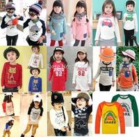 Cotton spring autumn children t-shirt child tops tees kids clothes boys blouse girls long sleeve t shirt  cartoon best choices
