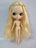Free shipping cost Blond long Hair Nude Doll Factory doll Fashion doll Suitable For DIY Change BJD Toy For Girls
