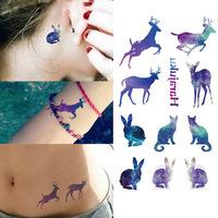 Temporary Tattoos New R3004 Tattoo Sticker Lovely Animals Pattern Waterproof Temporary Tattooing Paper Body Art