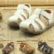 2015 neue rindsleder echtem leder sandalen männliche Kind sandalen schuhe kinder baby jungen sommer sandalen kostenloser versand(China (Mainland))
