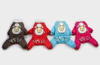 Good Quality Blue Or Red Sheep Cute Winter Dog Pet Clothing Jacket Fourlegs Coat