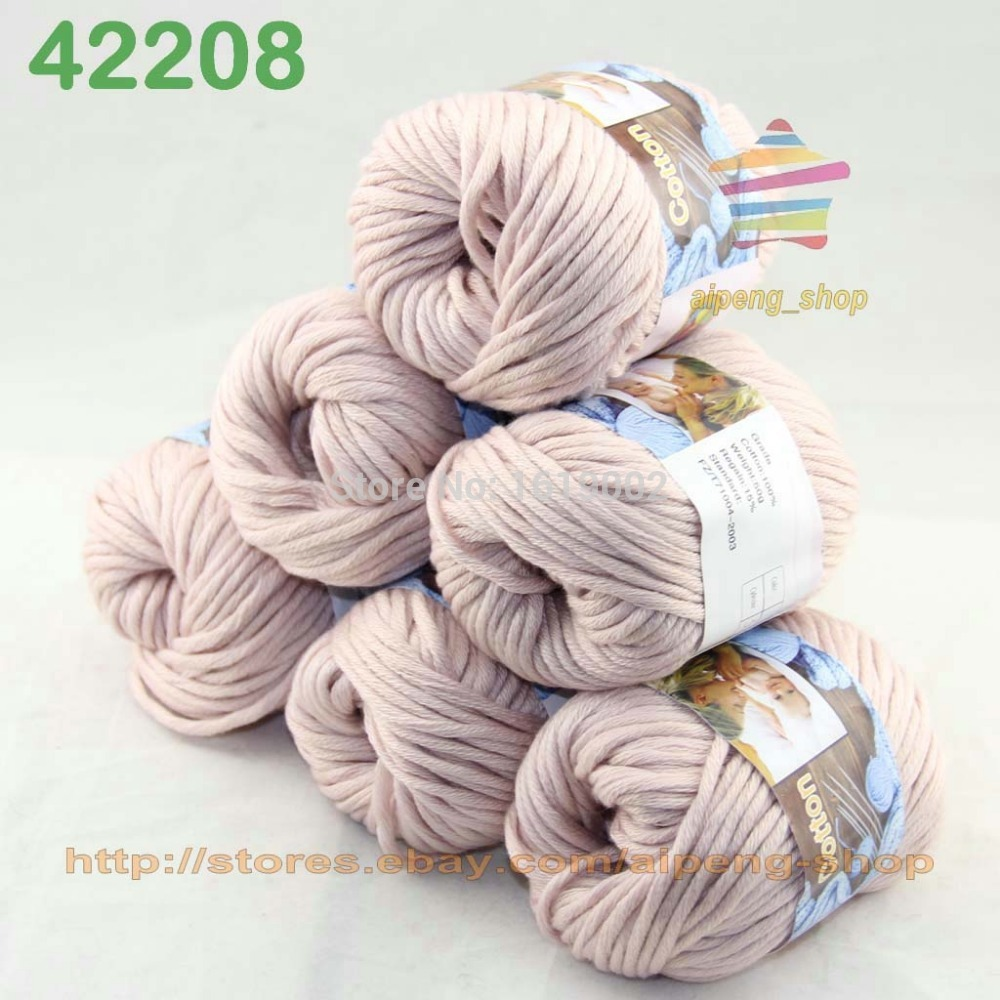 Sale 6 Balls X50gr Special Thick Hand woven Coarse Knitting Yarn cozy Linen 2208(China (Mainland))