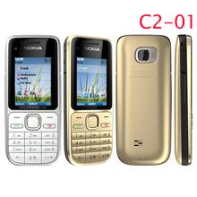 Original mobile phone Nokia C2 01 Duad Band 3G phone 3 2MP Camera FM MP3 MP4