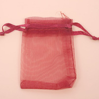 New Fashion Hotsale 300pcs/lot Wine Red Organza Pouch Gift Bags Fit Wedding&Festival&Party Decoration 7*5cm 120474