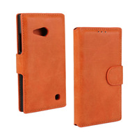 retro PU Flip Leather Case For Nokia 730  Stand Wallet Book Design Card Slot Cover For Nokia 730 Case
