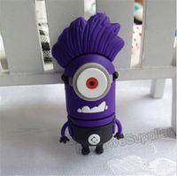 Purple pendrive Minions 64GB USB Flash drive, 64G pen drive Despicable Me flash memory