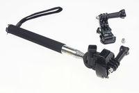 F07717-B Universal Retractable Handheld Monopod J-Hook Buckle Horizontal Surface  Quick-Release Buckle Strap Mount GoPro 3