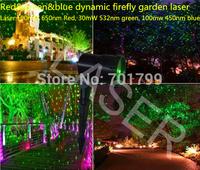 Red&green&blue dynamic firefly garden laser;Laser:100mW 650nm Red, 30mW 532nm green, 100mw 450nm blue