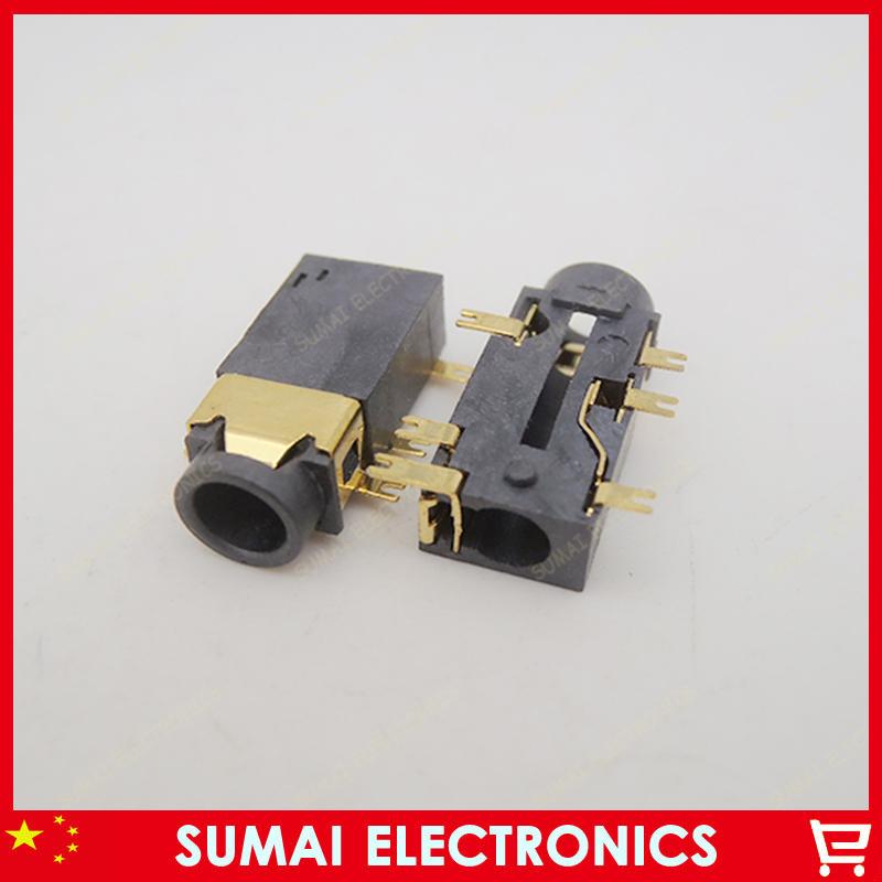 Brand New Tablet pc 3.5MM 6 SMT foot charging port socket dc audio jack(China (Mainland))