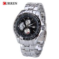 CURREN Luxury Hours Sports Watch Men's Quartz Watches Dress Wristwatch Casual Watch Date Display Man Full Steel Clock