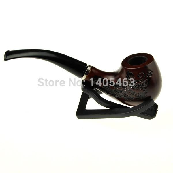 Healthy Wooden Cigarette Cigar Pipe Smoking Pipes Free Shipping(China (Mainland))