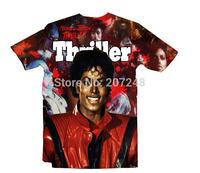 2015 New high quality Women's Men's Short Sleeve T shirt Fashion Jackson 3D t shirt S M L XL XXL