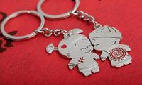 10pcs/lot Lovely Children Couple Keychain Keyring Creative Wedding Gift