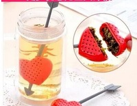 music/love hearted lteaspoon note tea filter Silicone Strawberry Design Loose Tea Leaf Strainer Herbal Spice Infuser Filter Tool