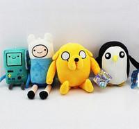 4pcs/set Adventure time Plush Toys Jake Finn Beemo BMO Penguin Gunter Stuffed Animals Plush Dolls Soft Toys Free Shipping