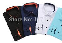 fashion men business casual shirts men long sleeve cotton shirts men camisa brand shirts plus size free shipping