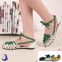 Hot 2014 Summer Sandals Women's Sandals Slippers Rome cross-tied leisure Sandals for Women Flat heels ladies Shoes