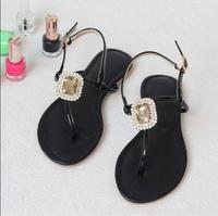 2015 summer women T Strap sandal Bohemia beach sandals Flat heels shoes sy-1034