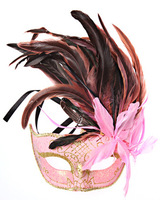 Halloween masquerade feather princess beauty lace mask adult Women
