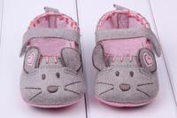 Sweet Baby Little Mouse Princess Infant Girl Soft  Anti-slip Walking Crib Shoes  Free Shipping