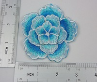 10pcs Fashion DIY three-layer 3D flowers motif applique embroidery for decoration high quality flowers blue