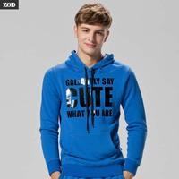 Zod slim male sweatshirt casual outerwear with a hood male slim pullover sweatshirt long-sleeve T-shirt