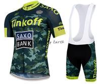 Free shipping! SAXO BANK 2015 new short sleeve cycling jersey bib shorts set bike bicycle wear clothes jerseys pants,gel pad!