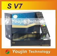1pc Original SKYBOX V7 Digital Satellite Receiver S V7 S-V7 VFD Support 2xUSB WEB TV USB Wifi 3G Biss Key Youporn CCCAMD