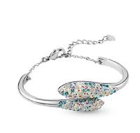 Fashion Bangles Multicolor Crystal elements bracelet Diameter 6cm+chian 5cm Free shipping