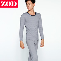 Zod male underwear basic set 100% cotton long johns long johns o-neck slim thin basic set