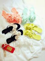 2015 camellia super soft jelly beach slipper