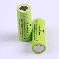 2PCS Vappower IMR18500 18500 1100mah high drain Li-ion Rechargeable battery 10A Free Shipping