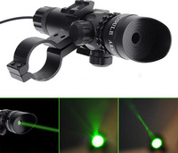 5mW Powerful Tactical green Dot Laser Sight with rail mount Aluminum Laser Sight Scope Set for Rifle Pistol Shot No battery