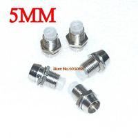 100pcs 5mm LED LEDs mount holder/ metal cover