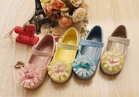 10pairs/lot Girls Party Shoes, Baby Flower Shoes, XAR106