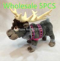 Wholesale 5PCS/LOT Frozen Doll Frozen Plush Doll Toy 43cm Frozen SVEN Stuffed & Plush Animals Plush Action Figures Free Shipping