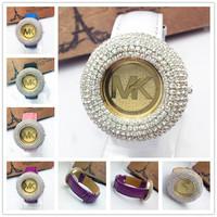 5 colors!Free Shipping New Brand Michaeles Watches Korss Crystal Full Drill Rhinestone Luxury women dress Michaeles Quartz Wrist