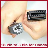2015 Top Fashion Wholesale Obd 2 Connector 16 Pin To Hon/da 3 Diagnostic Adapter Femal Obd2 Lead Auto Car Cable free Shipping