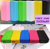 5600mah Power bank emergency charger for mobile phone Mp3 Ultrathin portable charger + retail package 80sets/lot by Fedex