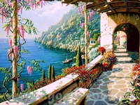 2015 new style Framed painting by number hand painted  picture oil painting for living room 4050 beautiful way