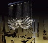 Luxury Modern Chandelier K9 Crystal Ball Heart Style Luminaire Decoration Ceiling Art Lighting Pendant Lamp Romantic Home Light