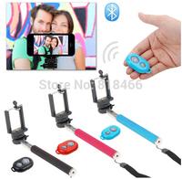 Extendable Self Selfie Stick Handheld Monopod +Clip Holder+Bluetooth Camera Shutter Remote Controller for iPhone Samsung Phone