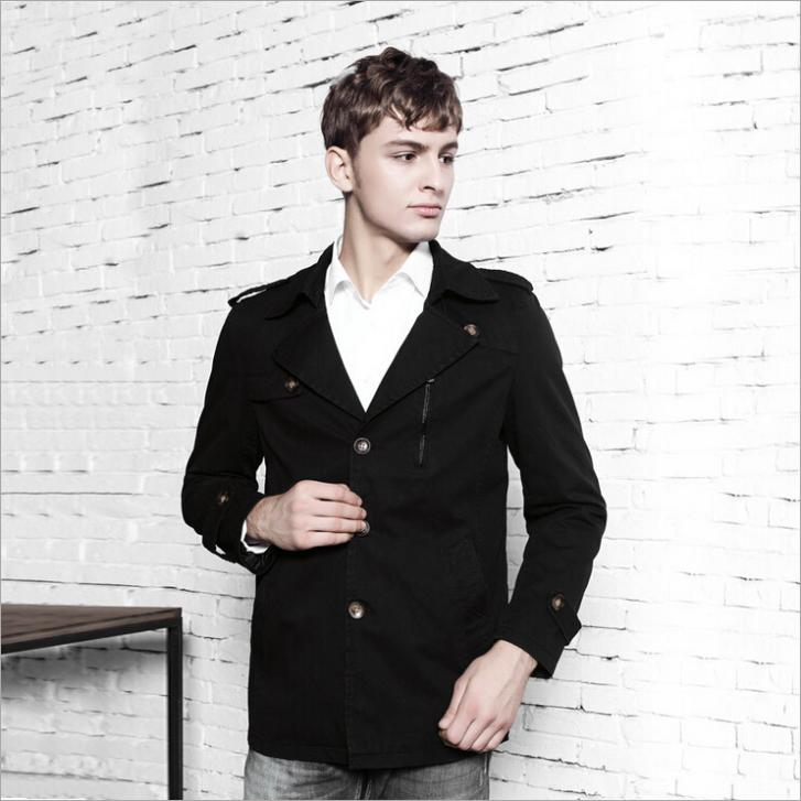 Mode Jassen Lente 2015 : Kopen wholesale lange trenchcoat voor heren uit