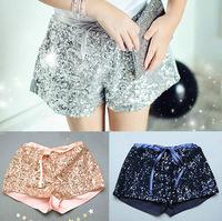 girls shorts summer 2015 new arrial Golden Sequins Cotton solid color for age 2-7Y wholesale vestidos zt bermuda infantil menin