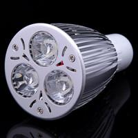 10X Factory Sale LED Bulb GU10 9W 3*3W Warm White Cold White 85V~265V  LED Light LED Spotlight Lamps Bulbs