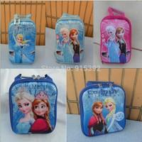 2015 new Frozen hard cover backpack lunch bag Aisha 3D girls hard shell Take back lunch bag