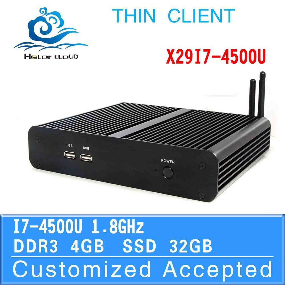 in stock!! i7 desktop mini computer x29-i7 4500u dual core pc 4g ram 32g ssd win8 embedded market advertising 4K 1080p machine(China (Mainland))